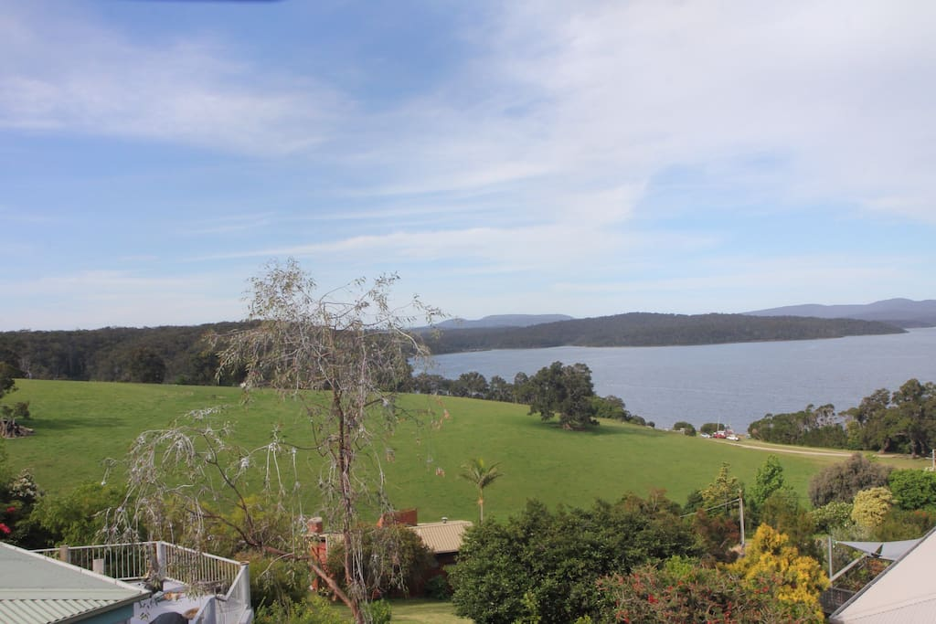 View of entrance to the Narrows at Mallacoota lake