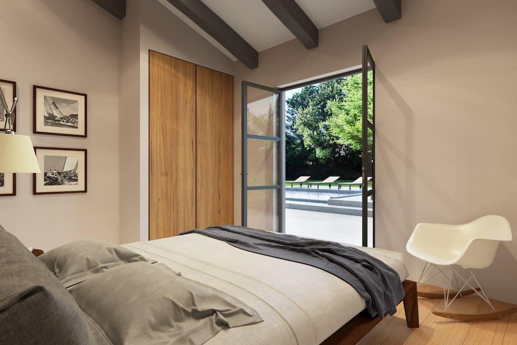 back garden bedroom