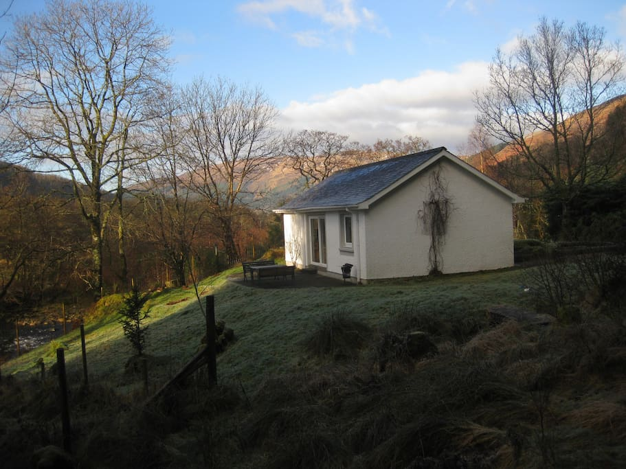 East Cottage on the banks of the River Coe