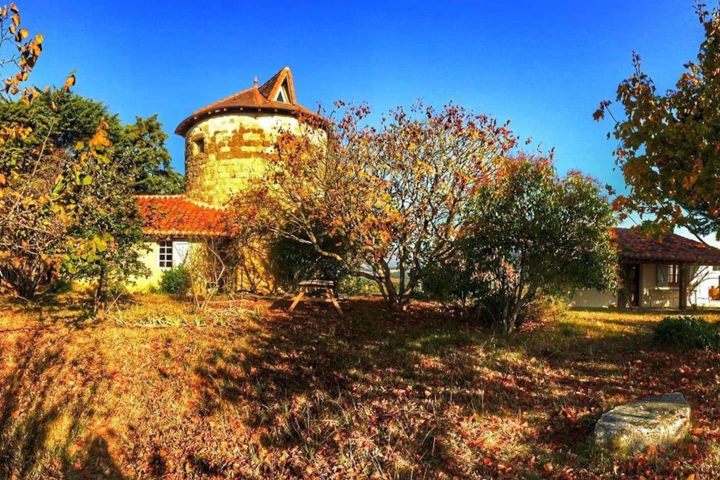 Autumn colours - both properties can be rented at the same time ( 6 people)