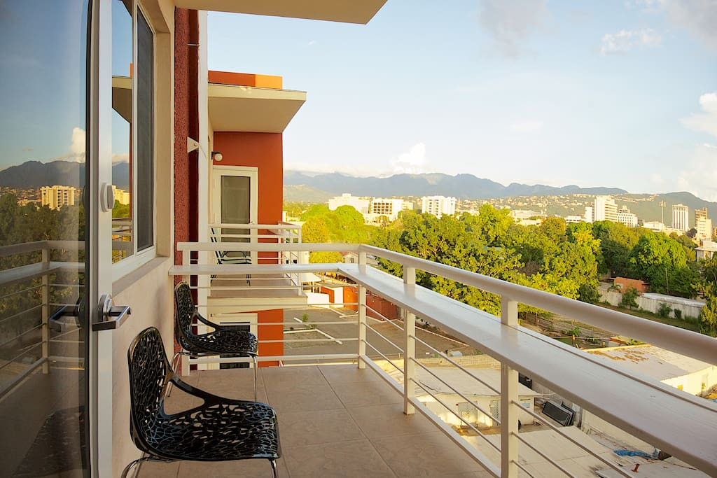 You're on the top floor overlooking the city of Kingston and beyond!