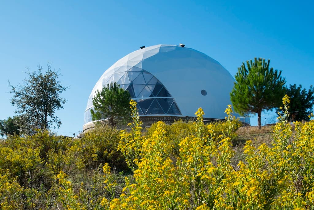The beautiful Om Yoga Dome