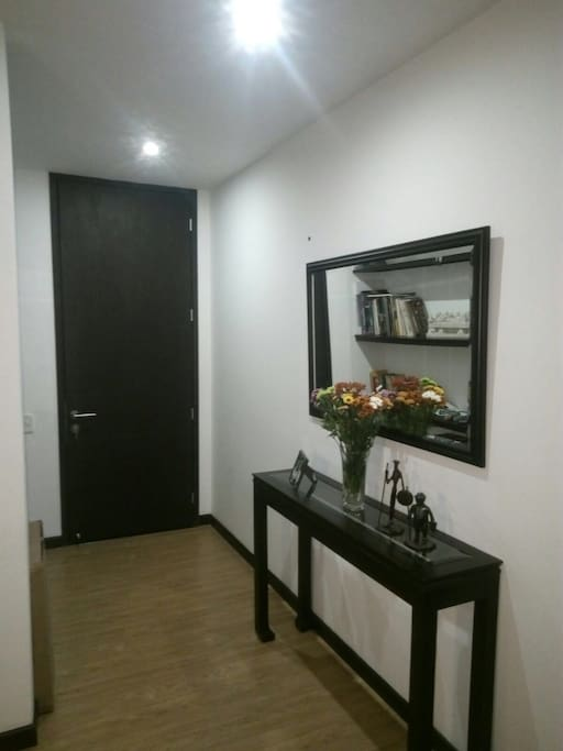 Upon arrival you'll receive your own key to the fifth-floor apartment of a new building with elevators in Cedritos, Bogotá.