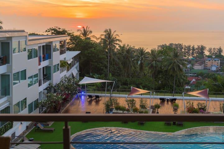 PoolAccessAppartment sea view 500#M @Karon Beach