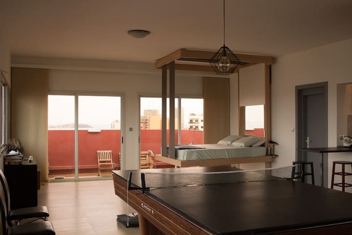 Loft with Panorama City View - Dakar