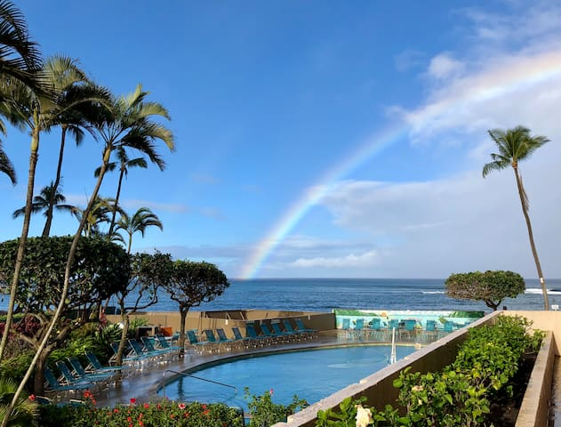 Clean, Ocean Front, 1 BR Condo 1st Flr in Lahaina