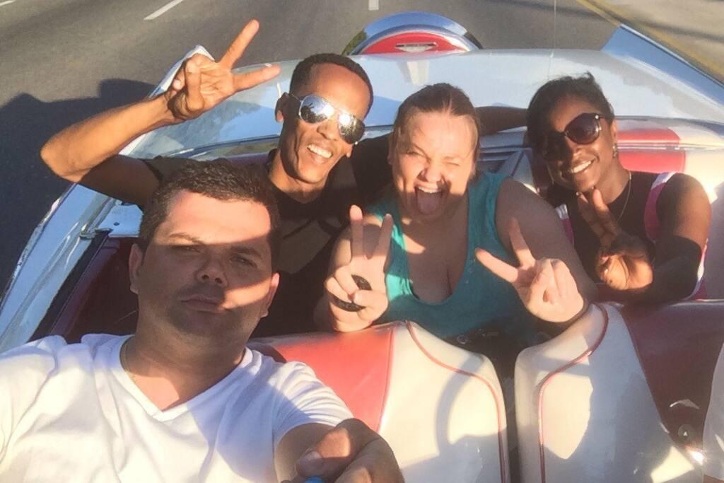 Realmente formamos parte de su aventura en Cuba...!!!