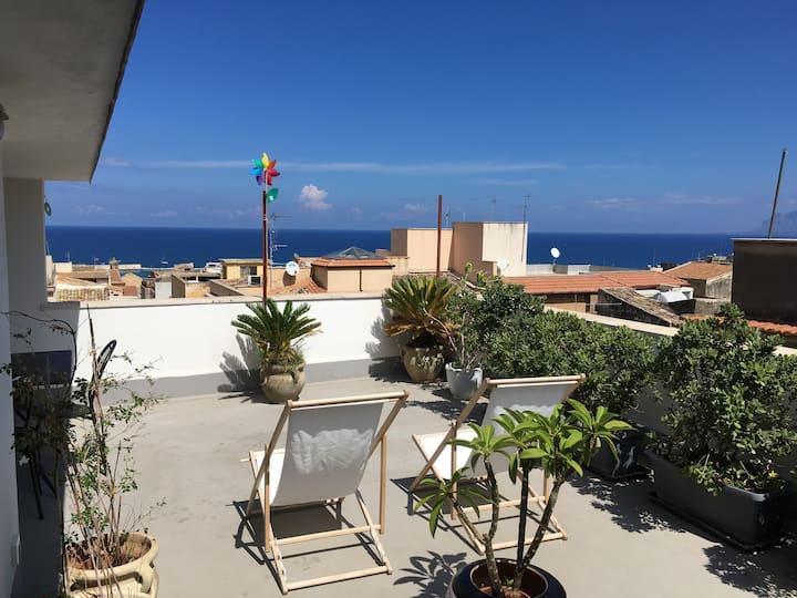 June terrace overlooking the gulf