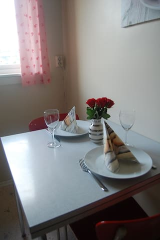 Enjoy a nice and private meal in in the kitchen.