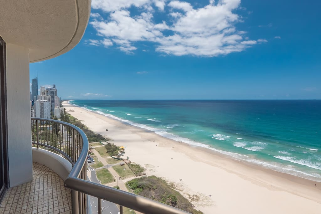 Balcony view of the Gold Coast