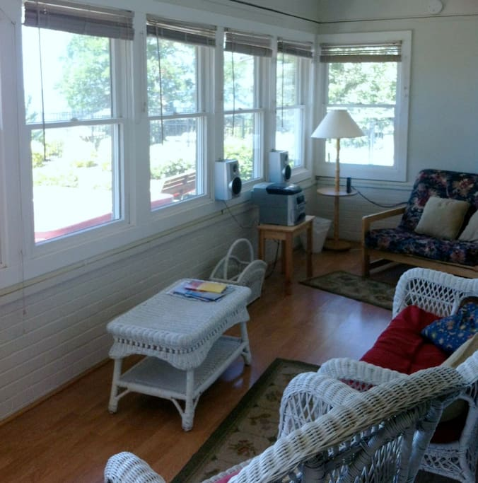 Sunroom with great views of Albemarle Sound