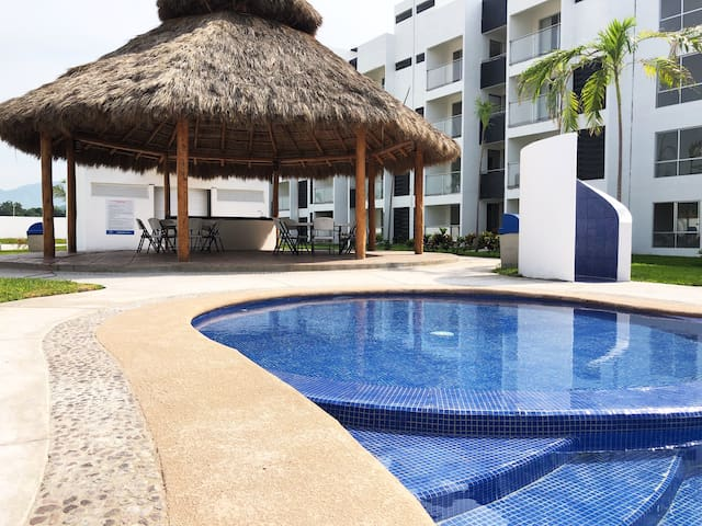 Full Apartment with Pool and Palapa in Manzanillo