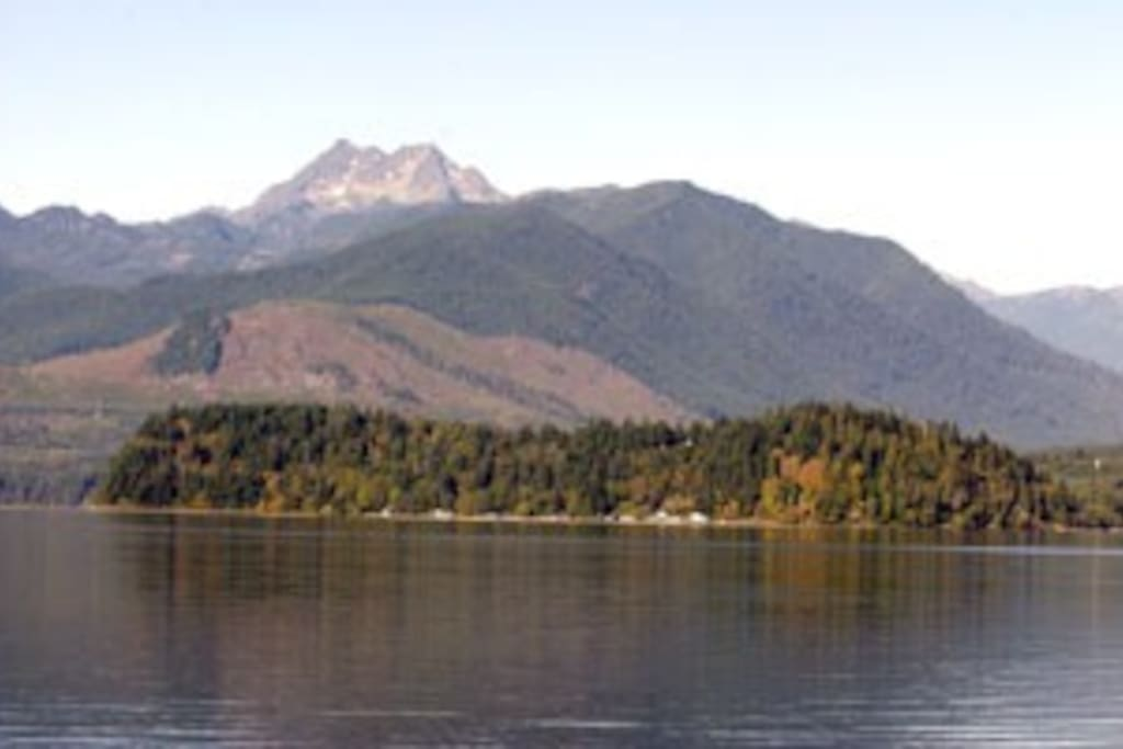 Olympic Mountains in the summer.