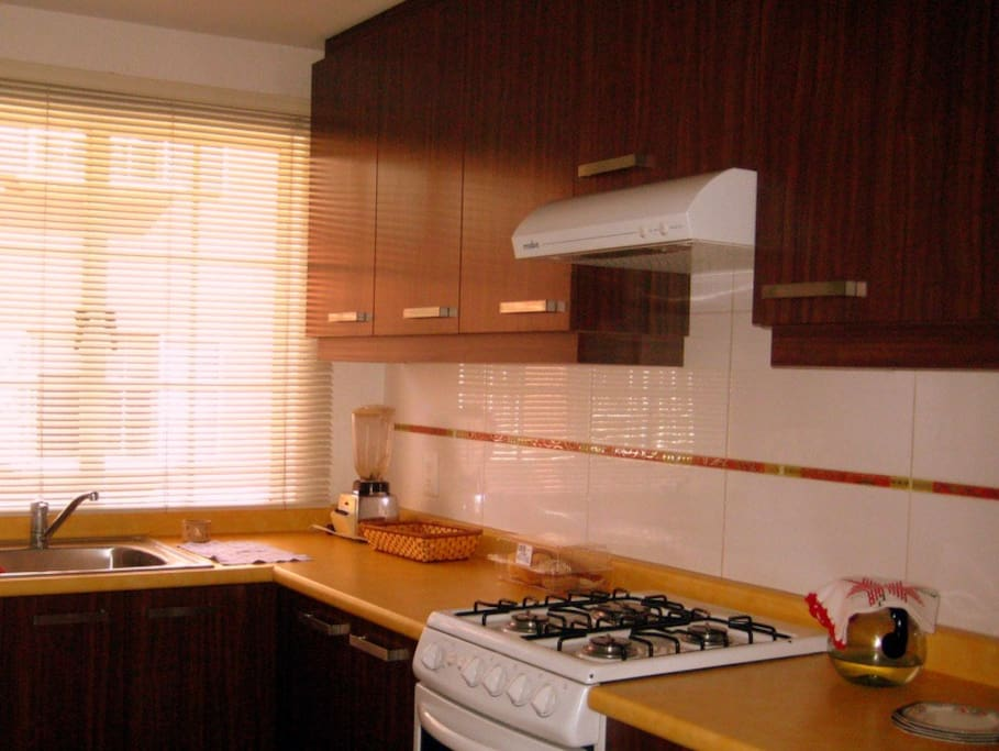 Comfortable kitchen with all amenities