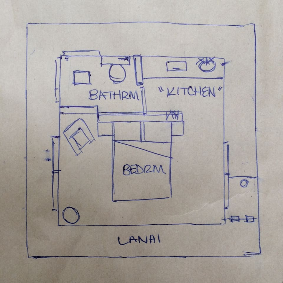 This is the treehouse Floorplan so you can get a feeling for the layout,