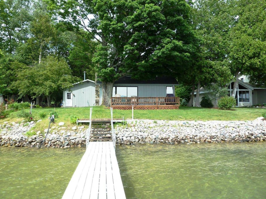 View of house and 40 foot dock.