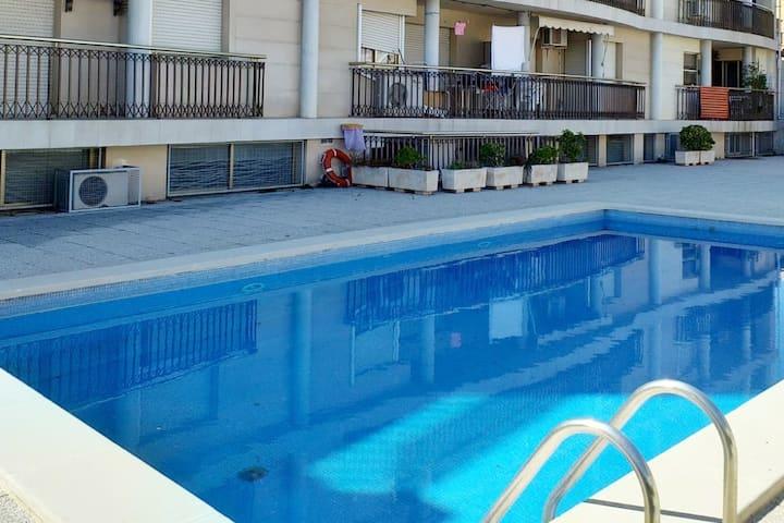 CÉNTRICO APT. 2 hab, piscina en S. C. de la Ràpita