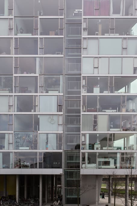 Enjoy and stay in this amazing and award winning, danish architect Bjarke Ingels building