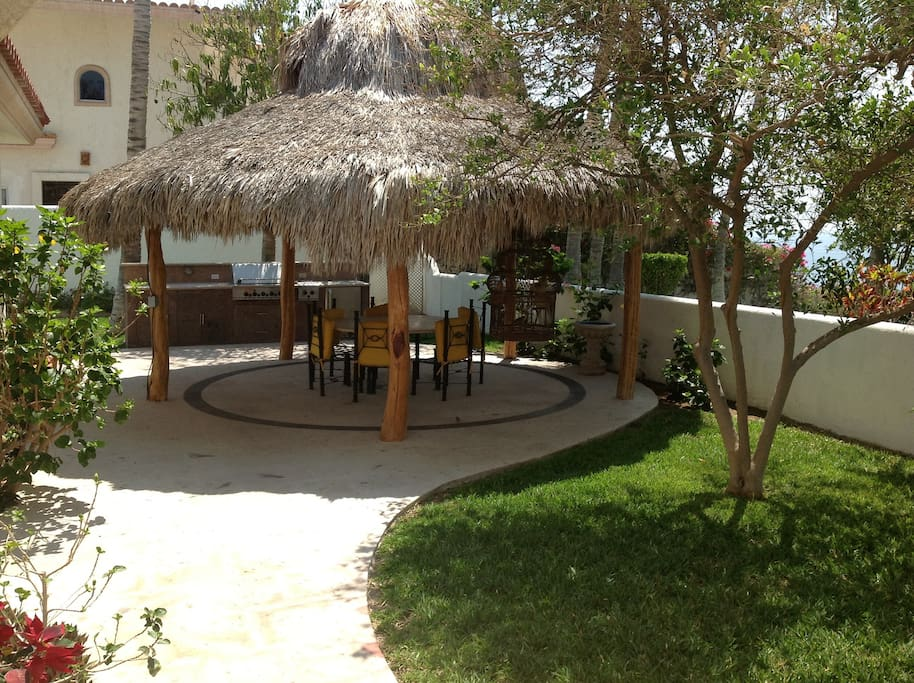 The palapa, for outdoor cooking and entertaining