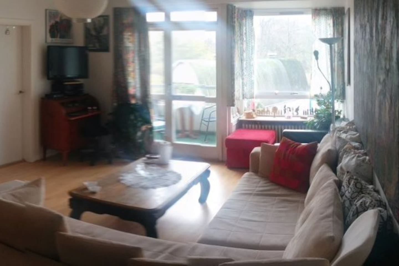 Living room facing the balcony.