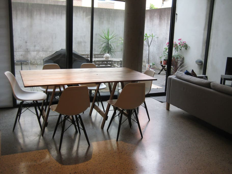 Indoor dining area