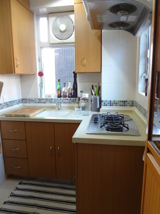 Quaint, bright, well-equipped kitchen