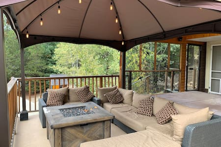 Sit back and relax your at the Cabin!