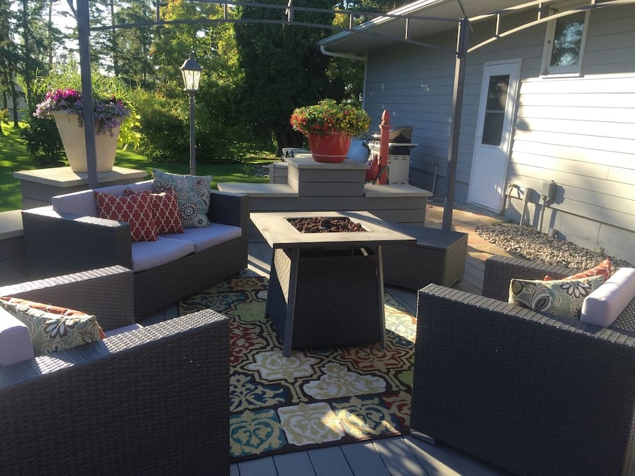 Back yard patio to enjoy during spring summer and fall