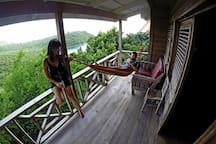 Balcony and the view