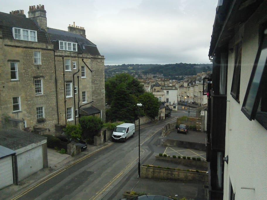 View from your window, looking down into the centre of Bath