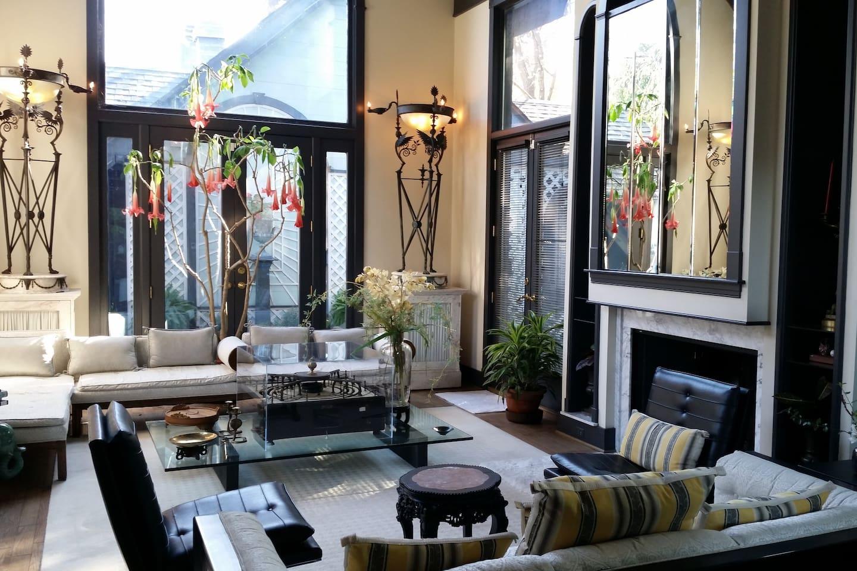 formal white living room