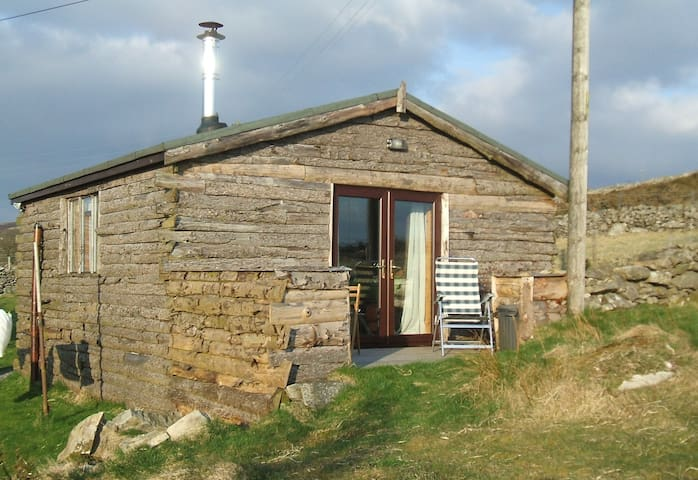 Cosy Log Cabin in a quiet hamlet - Penygroes - Srub