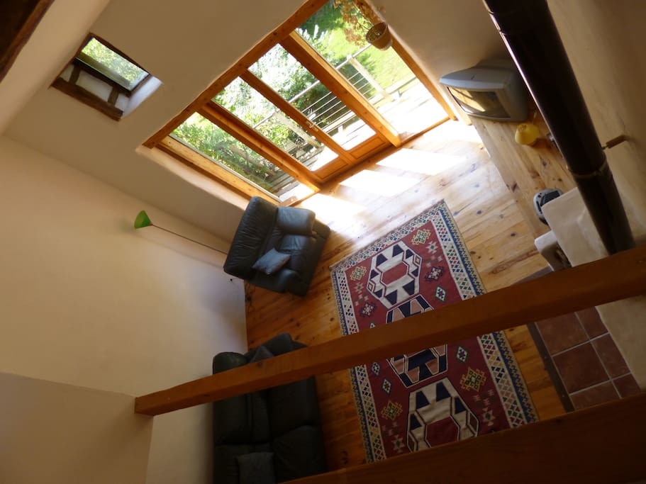 living space viewed from the mezzanine