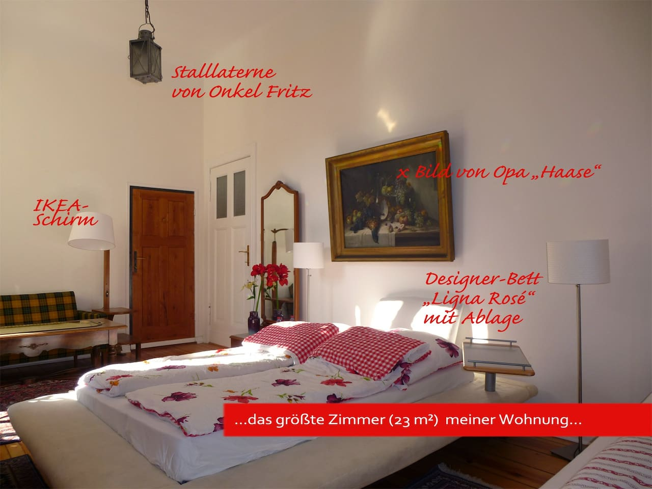 ..the largest room (23 m²) in my own apartment ...