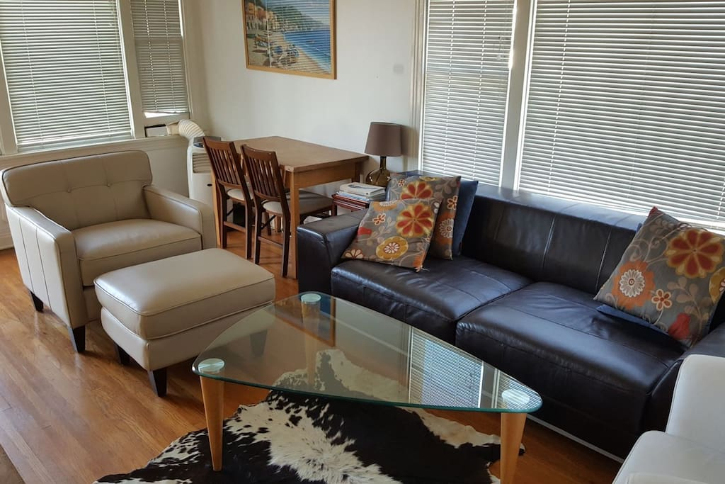 recently added a leather seat and ottoman