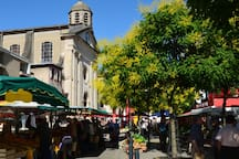 Mazamet farmers' market - just a 5 minute walk from the gite!  All the fruit, veg, cheese, bread, fish and meat that you could want if you like cooking! If not, there are plenty of good restaurants!!!!!