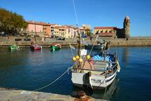 We're only an hour from the Med - this is Collioure on the Spanish border - it makes a great day trip down there.