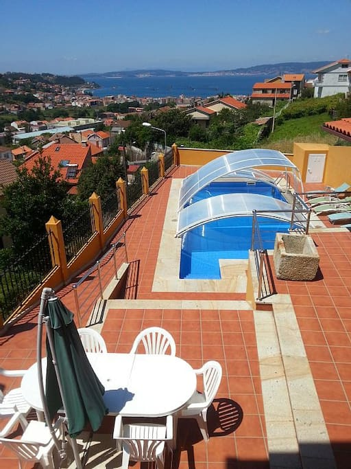 Casa con piscina e incre bles vistas en bueu houses for rent in bueu galicia spain - Apartamentos con piscina en galicia ...