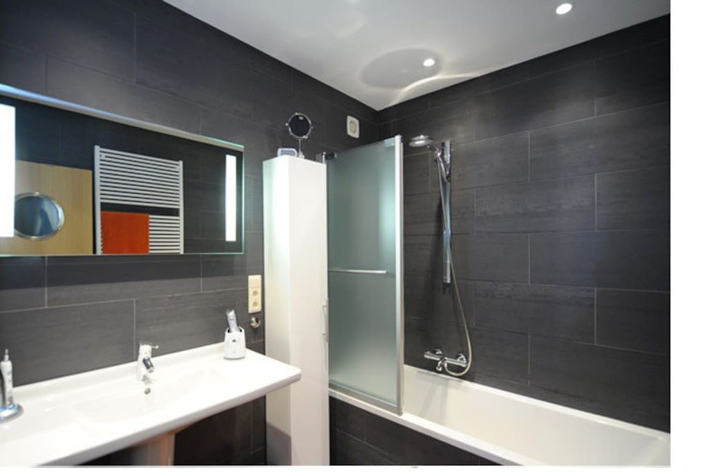 Bathroom - bad and shower