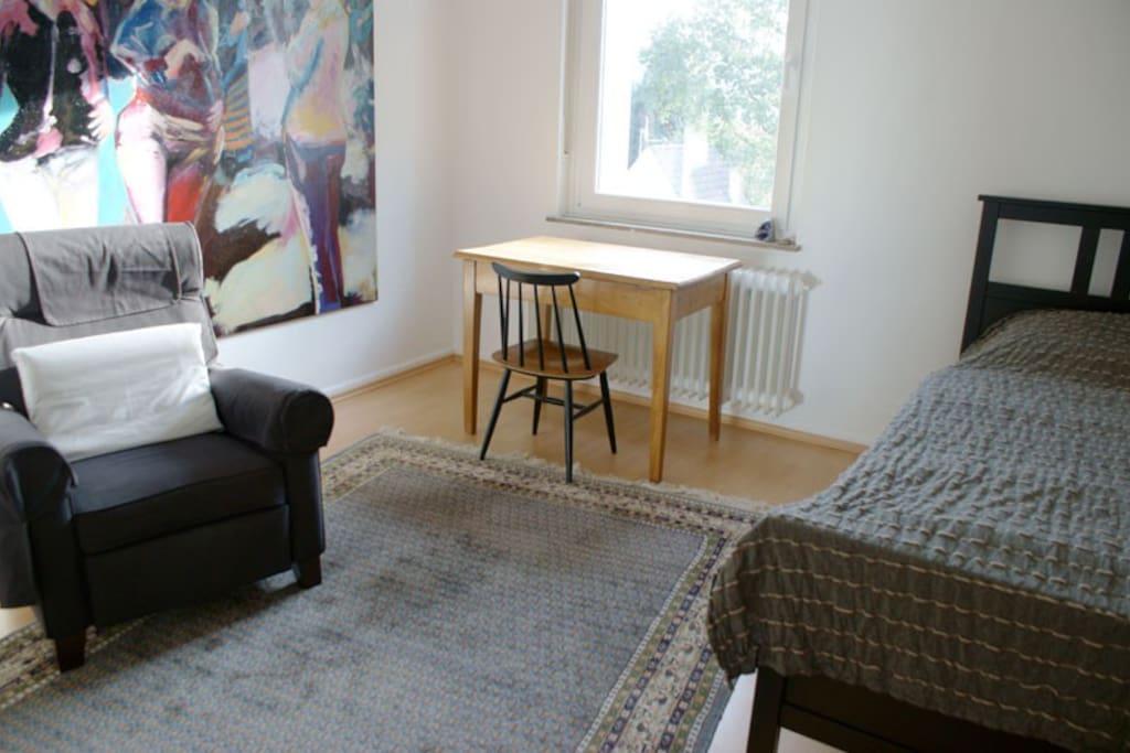 Das Zimmer Ost - ein Einzelzimmer.