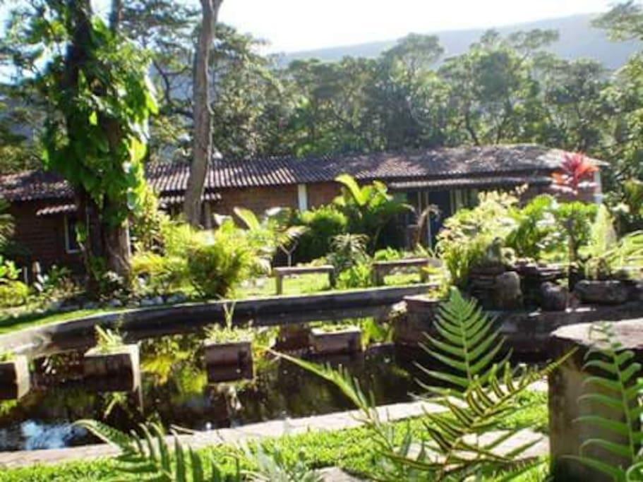 Vista geral dos jardins