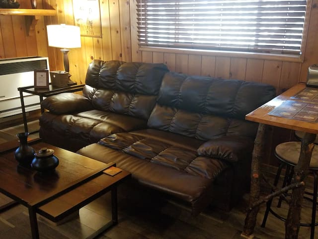 Reclining sofa for utmost relaxation.