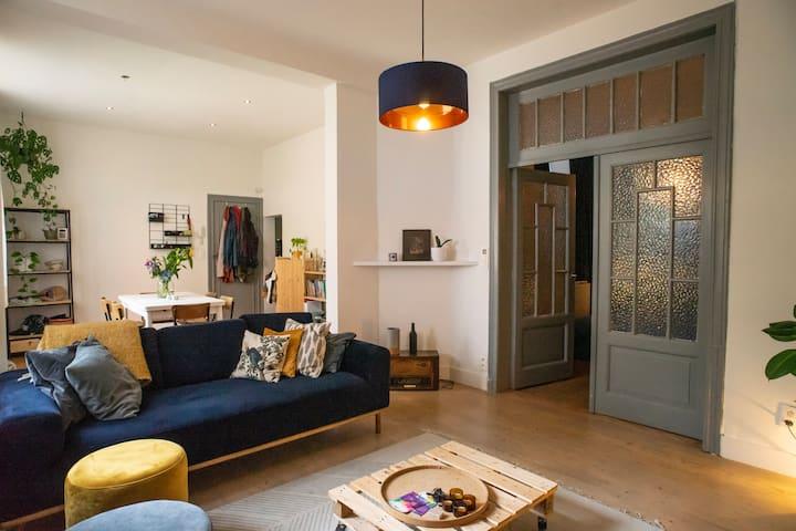 Charmant appartement in achterhuis bij Zurenborg