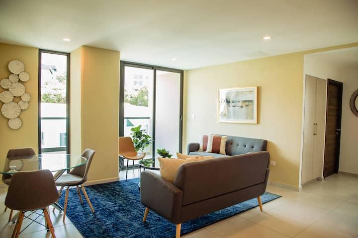 Apartamento Rosa-Acogedor de 3 Habs. en Lomas