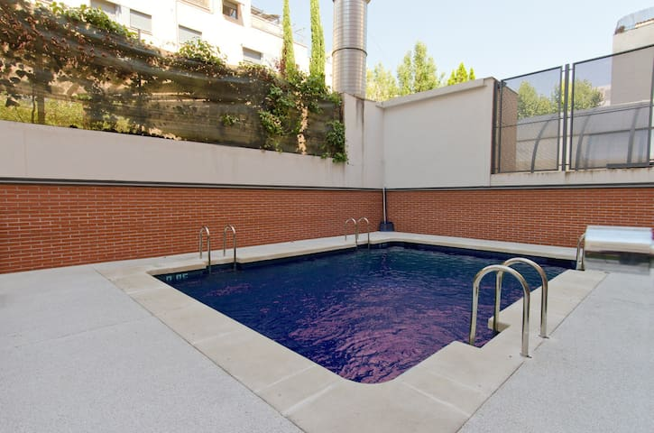 1 Bedroom with private terrace and community pool