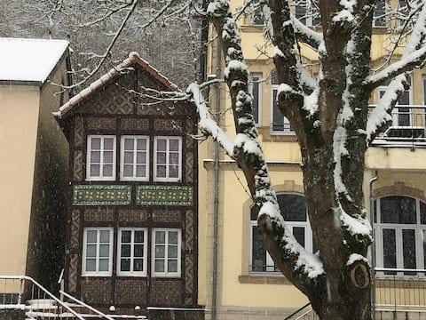 Listed Tudor House, ancient train station