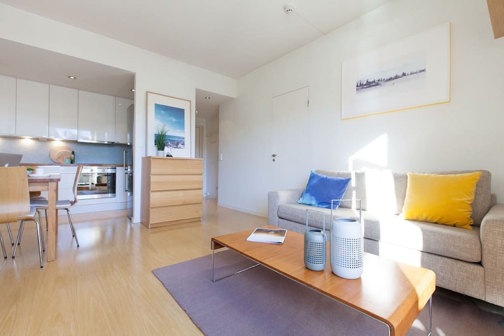 The apartment is nicely laid out, with access to everything from the living room