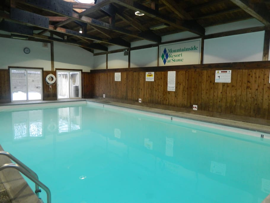 Indoor heated pool in club house