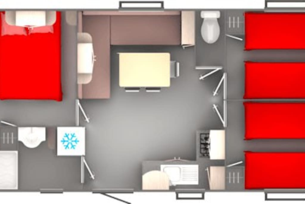 plan mobil home confort plus 3 chambres