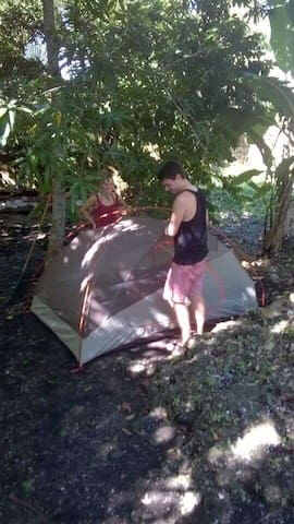 Camping in Jamaican Garden- Unique Experience !